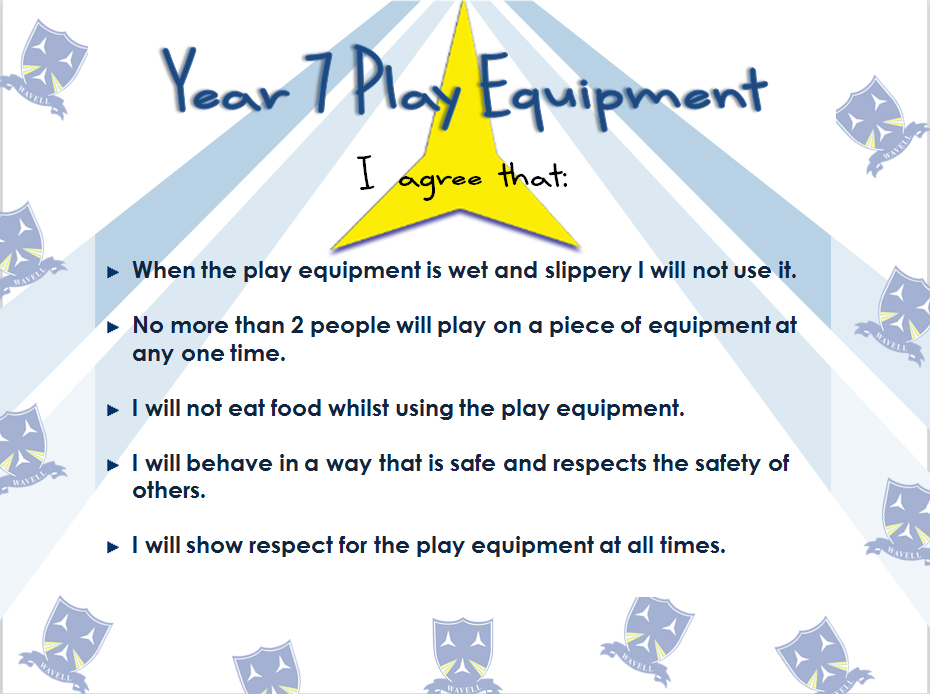 Year 7 Play Equipment Agreement